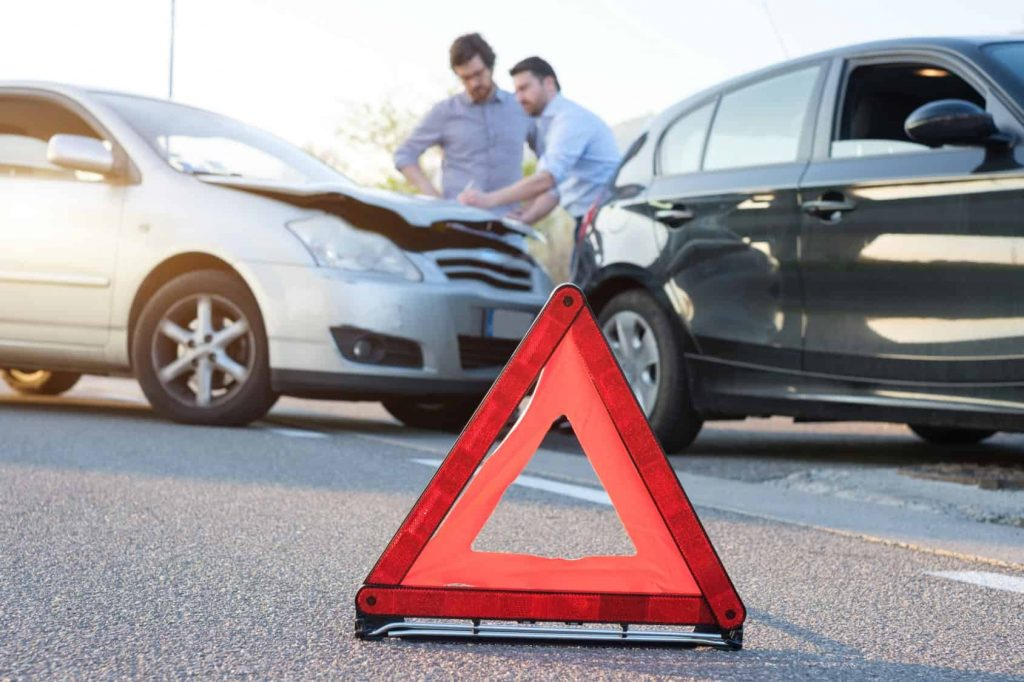 Hazard markers protect you after a car accident